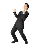 Asian business man with very exiting posture Stock Photo