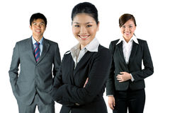 Asian business man and women Royalty Free Stock Image
