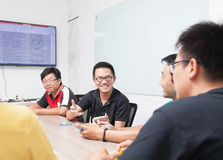Asian business people group meeting room collaboration colleagues Royalty Free Stock Images
