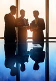 Asian Business people having conversation in conference room royalty free stock photography