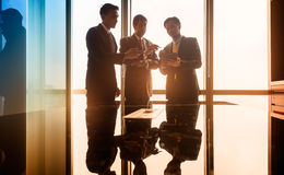 Asian Business people having conversation in conference room Royalty Free Stock Image