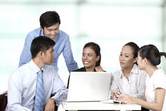 Asian business people having a meeting Royalty Free Stock Photo