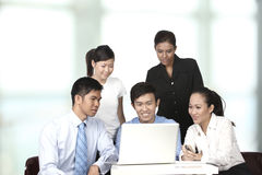 Asian business people having a meeting Royalty Free Stock Images