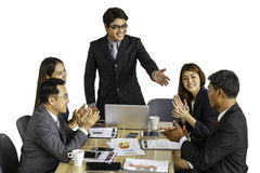 Asian business People meeting discussion working at office, Meet Stock Image