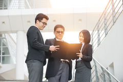 Asian business people outdoor Stock Photo