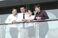 Asian Business people using Touch-pad PC Stock Photography