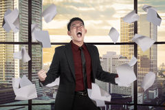 Asian business person depressed on the office Stock Images