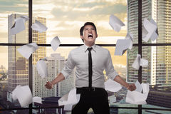 Asian business person depressed on the office Stock Image