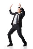 Asian business put hands up Stock Photo