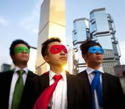 Asian business superheros, Hong Kong. royalty free stock photography