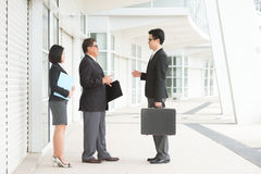 Asian business team discussion Royalty Free Stock Photos
