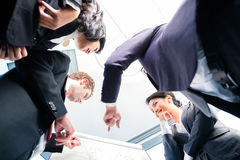 Asian business team in presentation Royalty Free Stock Photos