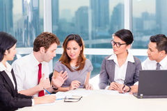 Asian Business Team in Strategy meeting Royalty Free Stock Image