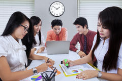 Asian business team working in office Royalty Free Stock Photography