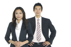 Asian business teams. Asian business partners on white Stock Photo