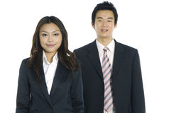 Asian business teams. Asian business partners on white Stock Photography