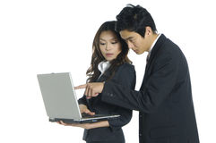 Asian business teams. Business woman and man working together Royalty Free Stock Photography