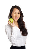 Asian Business Woman with apple Royalty Free Stock Image