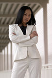 Asian Business Woman with Arms Folded royalty free stock photos