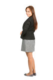 Asian Business Woman Behind Over Shoulder Full Royalty Free Stock Image
