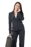 Asian business woman on cell phone Royalty Free Stock Images