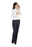 Asian business woman with cellphone Stock Photo
