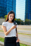Asian business woman cellphone Royalty Free Stock Photography