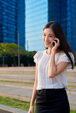 Asian business woman cellphone Stock Images