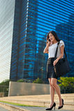 Asian business woman cellphone Stock Image