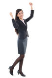 Asian business woman cheering Stock Photography