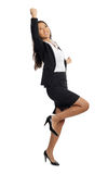 Asian Business Woman cheering success Royalty Free Stock Images