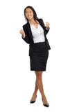 Asian Business Woman cheering success Stock Photography