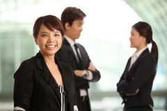 Asian Business woman with colleague's Stock Image