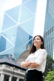 Asian business woman confident outdoor, Hong Kong Stock Photography
