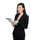 Asian business woman with digital tablet computer Stock Photos