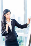 Asian Business woman drawing Stock Image