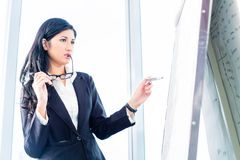 Asian Business woman drawing Stock Images