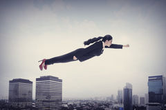Asian Business Woman Flying Stock Photos