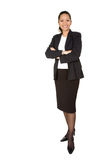 Asian business woman - full body Royalty Free Stock Photos