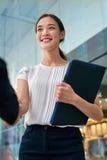 Asian business woman handshake Stock Image