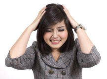 Asian business woman headache Stock Photography