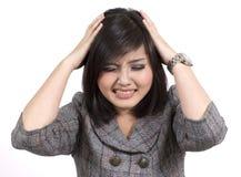 Asian business woman headache Stock Photography
