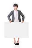 Asian business woman hold empty blank board Stock Photography