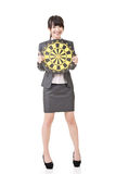 Asian business woman holding target board Stock Photo