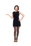 Asian business woman indicate blank space Stock Photography