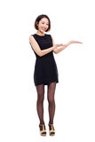 Asian business woman indicate blank space Stock Images