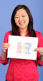 Asian business woman - job offer Stock Photography