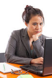 Asian business woman at laptop Stock Images