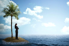 Asian business woman looking the horizon Stock Images