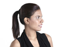 Asian business woman looking to the left Stock Image